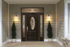 Beautifully remodeled entry door by New Look Home Improvements.
